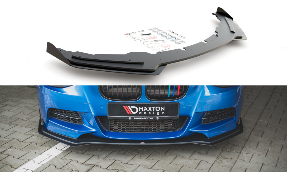 SPLITTER PRZEDNI RACING DURABILITY + FLAPS BMW M135I F20 - GRUBYGARAGE - Sklep Tuningowy